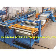 Máquina de corte e rebobinamento da bobina de aço