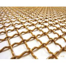 Serti de treillis métallique carré cuivre