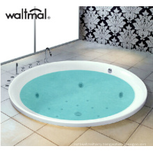 Round Drop-in Massage Bathtub Whirlpool with Heater