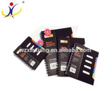 Personalizar el cuaderno de papel reciclado classmate de la tapa negra de los PP 0.45mm