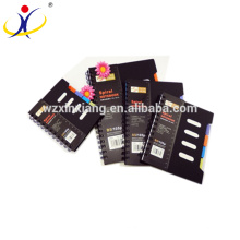 Customize Black 0.45mm PP cover classmate recycled paper notebook