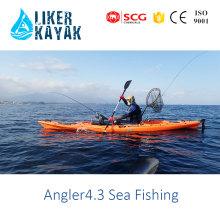 Lazer Kayak LLDPE / HDPE Único sentar-se no caiaque Kayak de pesca