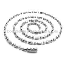 Art- und Weisequalitäts-Metallhalsketten-Edelstahl-Kugel-wulstige Kette