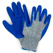 Hppe Fiber Anti Cut Gloves Blue Latex Palm Coating Mechanix Gant de travail