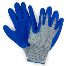 Hppe Fiber Anti Cut Gloves Blue Latex Palm Coating Mechanix Work Glove