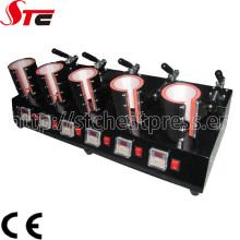 5 dans 1 machine de transfert de presse de la chaleur de tasse efficace élevée