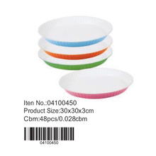 Ceramic colorful coating round pan