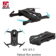Más nuevo 720 P HD cámara selfie drone sensor de gravedad altura set drone plegable forma del coche quadcopter 3D flip PK Eachine E52