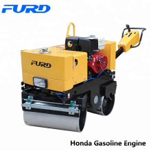 800kg Pedestrian Roller for Sale Double Drum Vibratory Road Roller FYL800