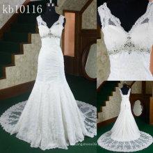 2013 mais recente design-venda quente sereia chinesa rebordeado vestido de casamento nupcial
