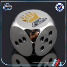 Personalizado de metal esmalte durables juguetes dados porno