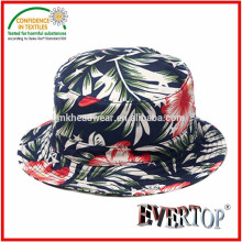 Sombrero del cubo de la impresión de Allover, sombrero 100% del cubo del algodón sombrero hermoso del cubo
