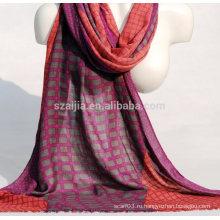 Мода плед печати вискоза дамы шарф