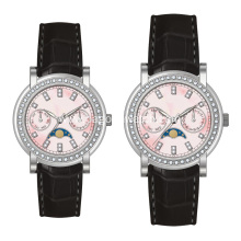 316L stainless steel couple wrist watch