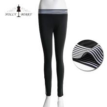 Nueva llegada negro flaco bootcut pantalones de mujer