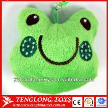 Juguetes de llavero de felpa en los juguetes de los niños de la forma de la rana
