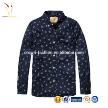 Fashion Boys Children Cashmere Wool Blended Printed Long Sleeve Shirt