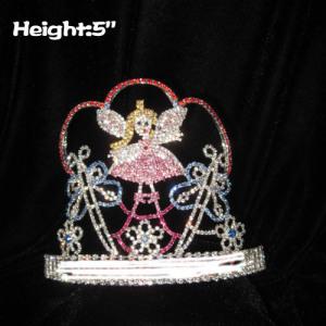 Coronas de cristal con forma de mariposa con ángel de hadas