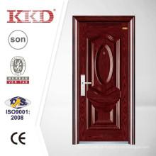 Porta de aço de segurança de luxo KKD-205 estampagem profunda