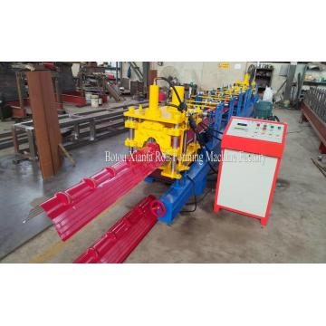 Baja atap Ridge Cap Roll Forming Machine