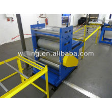 Steel sheet embosser machine