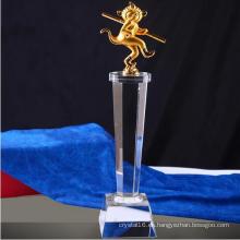 2016 nuevo diseño Metal Crystal Trophy