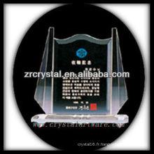 design attrayant blanc trophée de cristal X051