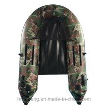 Barco de pesca inflável de tubo flutuador pequeno
