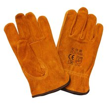 Cow Skin Labor Protective Safety Hand Working Driver Gloves