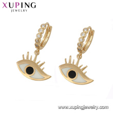 94719 Hot sale trendy jewelry zinc alloy eye shape drop earrings for women