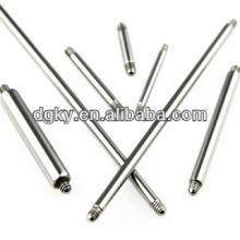 12 calibre 316L remplacement de l'acier chirurgical Accessoires de bijoux Barbell