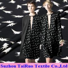 114cm Digital Printed Crepe De Chine Silk for Shirt Fabric