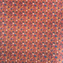 Flower Red/Blue Printed Lining