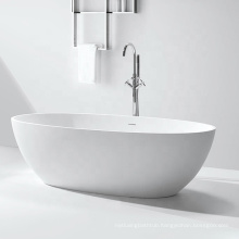 Cheap Price White Matte Acrylic Solid Surface Artificial Stone Bathroom Soaking Freestanding Bath for Home Use