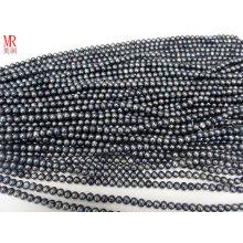 6-7mm Grey Black Freshwater Pearl Strand (ES294)