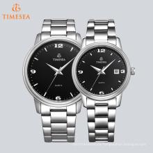 Casual Unisex reloj de cuarzo de negocios muñeca de acero inoxidable reloj 70039