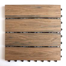 300*300mm Interlock DIY WPC Tiles 3D Wood Embossing Design Wood Plastic Composite Outdoor Other Flooring Waterproof Decking Tile