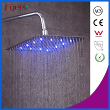 Fyeer Ultraslim 8 Inch Chrome Plated 304 Stainless Steel Shower Head LED Shower