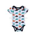 2017 Wholesale New Born Baby Boy Clothing Toddlers Clothing 2 PCS Set Organic Cotton Baby Romper