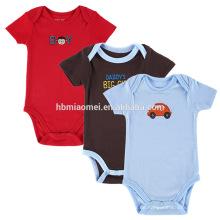 Neue Lager Baby Kleinkind Junge Sommer Playsuit Strampelanzug rot blau schwarz Farbe Strampler Body