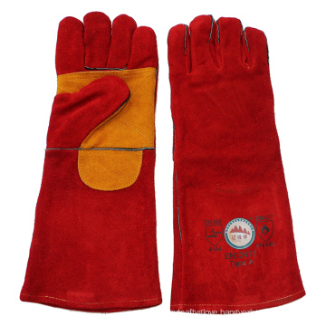 Double Palm Leather Safety Working Welding Gloves