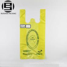 Custom printed biodegradable t-shirt plastic bags