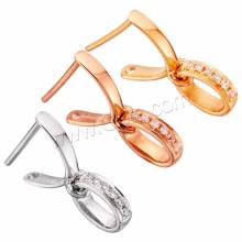 Jewelred Zubehör 18K Gold Pinch Bail Micro pflastern Zirkonia Gold Schmuck