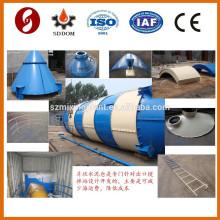SNC100 100ton silo de cemento para almacenamiento de cenizas volantes
