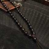 Latest Design Black Onyx Beads carved Meditation prayer Mala Necklace