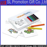 Promotional Wooden Pencil Coloring set/Colouring Set in Clear Box