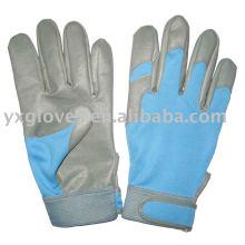 PU Handschuh-Frauen Handschuhhandschuh-Baumwollhandschuh-Sicherheitshandschuhe-Arbeitshandschuhe
