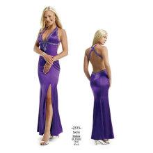 Romántica longitud del tobillo vestidos de cóctel morado M28-colour1