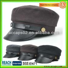 2013 Chapeaux Fahsion Coréens Nouveaux Design Brim en cuir AMC-1206