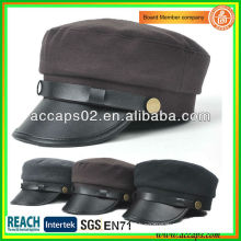 2013 New Design Leather Brim Ladies Korean Fahsion Hats AMC-1206